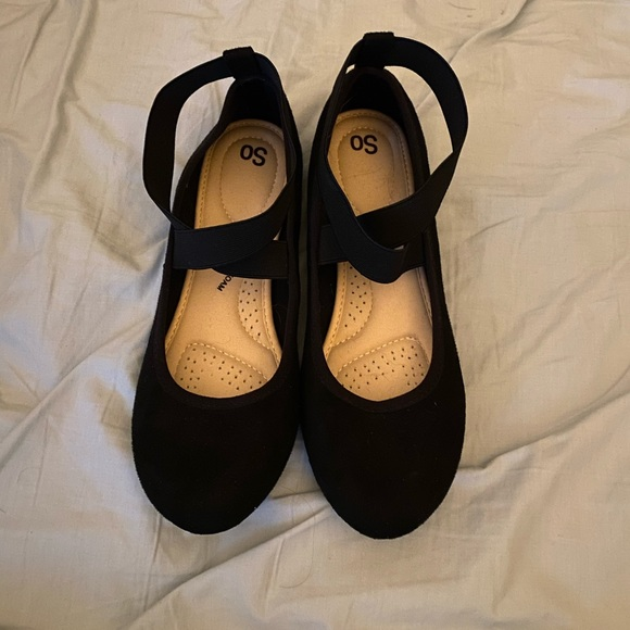 SO Black Flats with straps